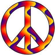 Clip art of Peace Sign