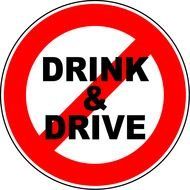 drink and drive sign drawing