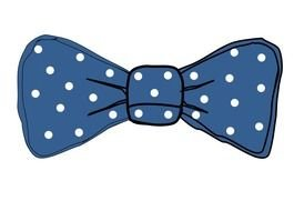 blue Bow drawing