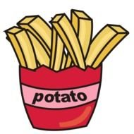 clipart of the fried potatoes