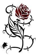 red rose for tattoo