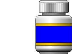 plastic Pill Bottle drawing