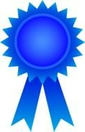 blue ribbon for the winner as a picture for clipart
