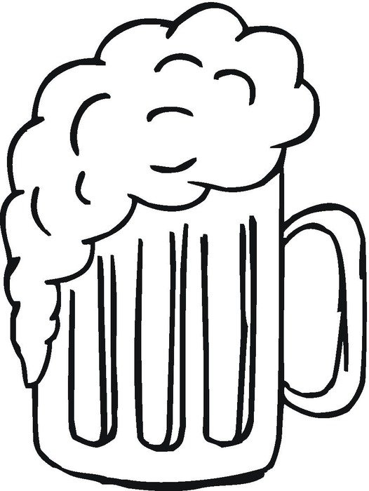 drawn beer mug