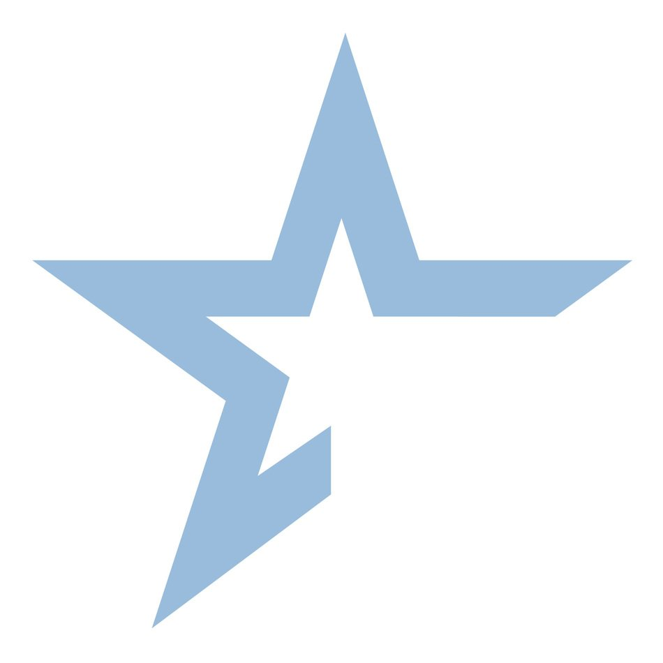blue star on the white background