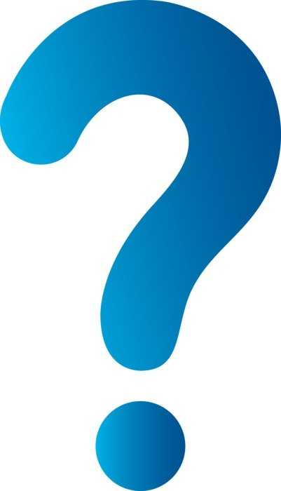 isolated blue question mark