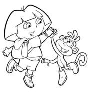 Coloring Pages &187 Dora The Explorer