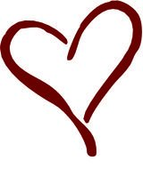 Clipart brown Heart drawing