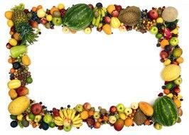 Clipart of the fruits border