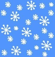 clipart of the white snowflakes