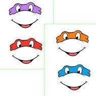 Ninja Turtle Mask Template Printable Free Images free image