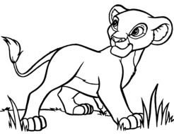 disney lion cub as a picture for clipart