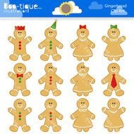 clipart of the Gingerbread Men