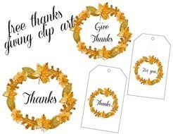 Vintage Thanksgiving sign clipart