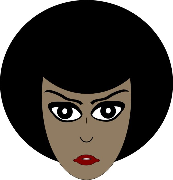 clipart of the Cartoon African American Woman