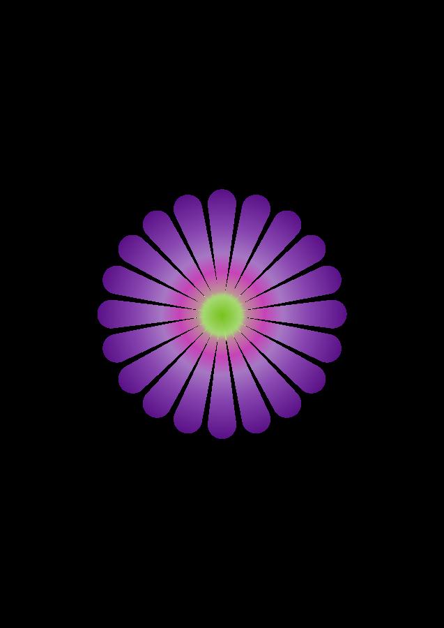 Purple Daisy 20 Svg Vector free image