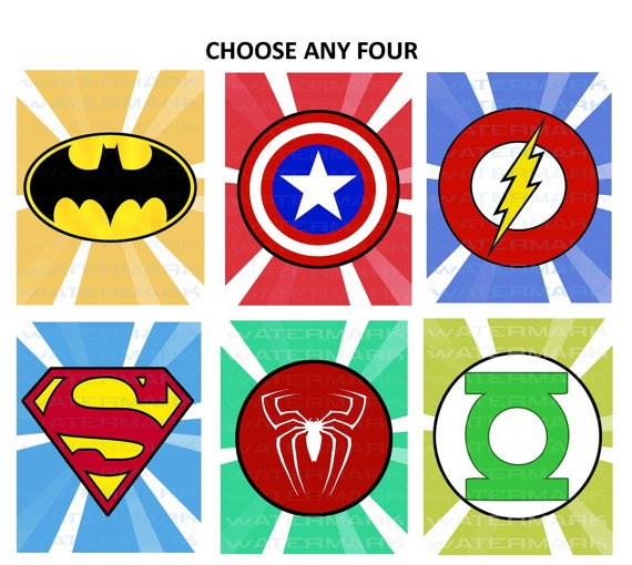 graphic relating to Free Printable Superhero Logos referred to as Superhero Trademarks No cost Printables clipart absolutely free graphic