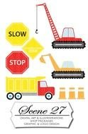 clipart of the Construction Zone Signs
