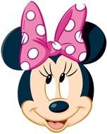 Smiling Minnie Mouse clipart
