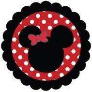 silhouette of a minnie mouse head for clip art