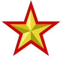 yellow star with red borders