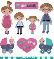 we are family clipart drawing