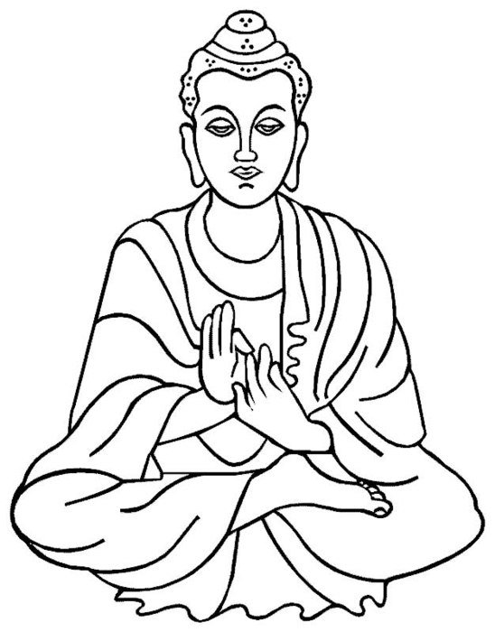 coloring page with Buddha