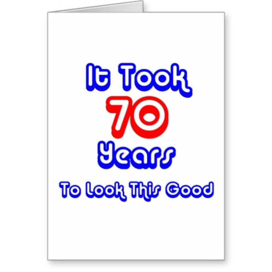 FUNNY 70TH BIRTHDAY GREETING CARDS ZAZZLE CLIPART