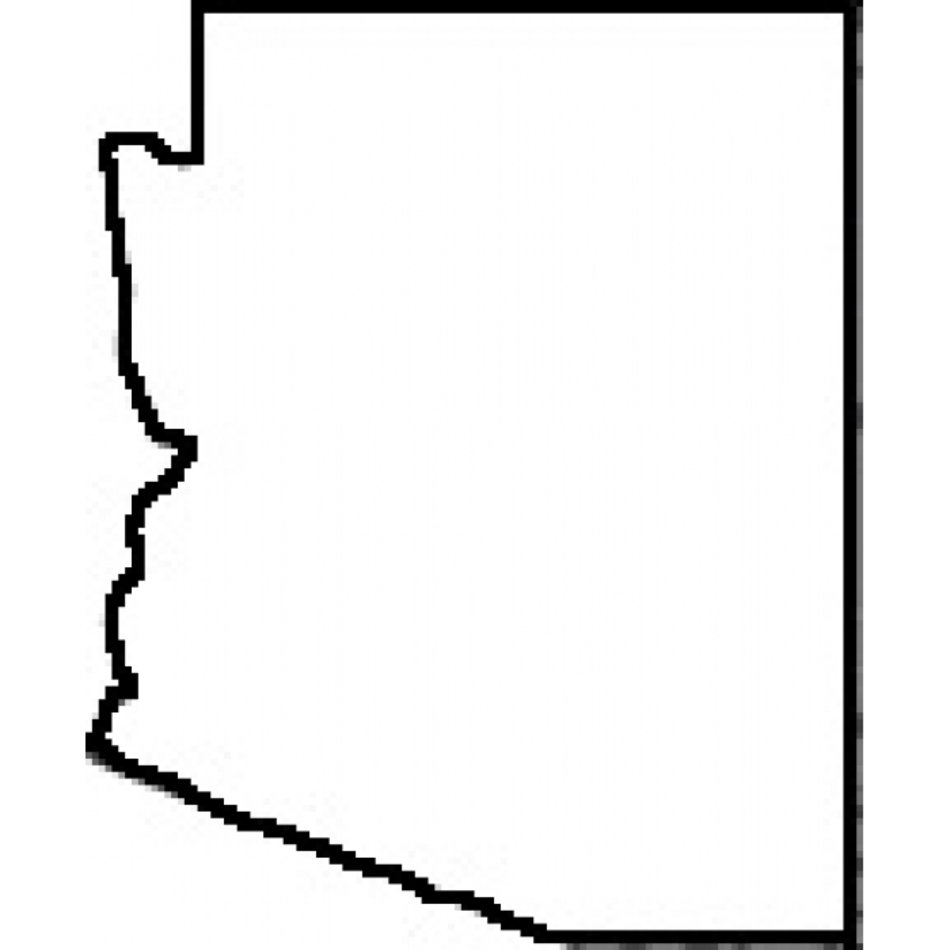 State Outline Arizona Map free image