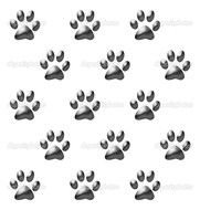 Clipart of Paw Prints