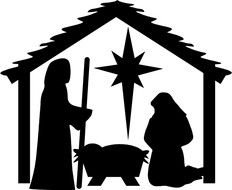 Details About Nativity Christmas drawing