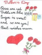 Happy Mothers Day Poem drawing