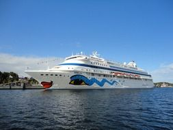 funny cruise ship on the Baltic Sea