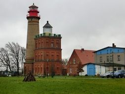 lighthouse on the cape arkona on the Baltic Sea