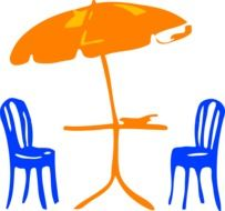 umbrella chairs drawing