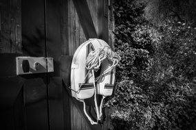 life buoy rescue black and white recording