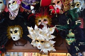 variety of masks in venice