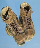 old hiking shoes