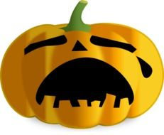 pumpkin in tears as a graphic image
