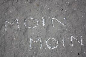 moin moin text sand