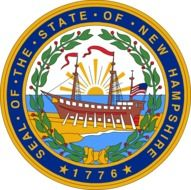 new hampshire seal flag drawing