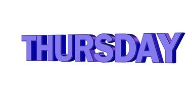 clipart of the purple thursday text