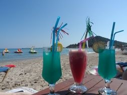 cocktail beach summer greece