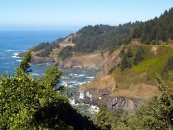 panorama of the pacific coast in oregon
