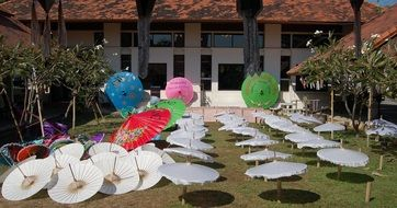 very beautiful umbrellas, thailand