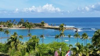 beautiful tropical coastline, puerto rico