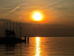 Italy lake Garda sunset