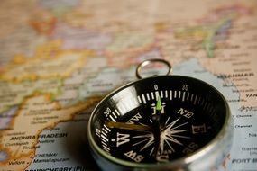 compass navigation map direction