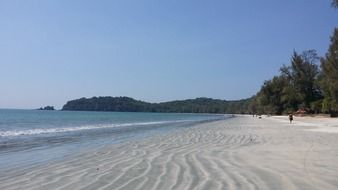 white sand on the beach in thailand