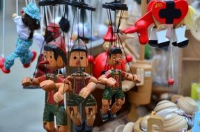 wooden puppet dolls in Rome